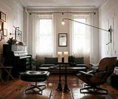 Love the moodiness.  And that light fixture.