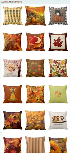 Fall Throw Pillows and Autumn Accent Pillows