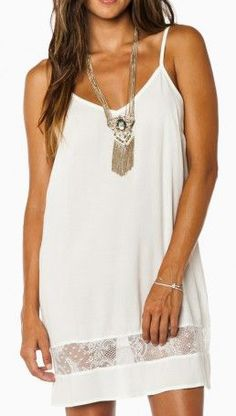 Nella Dress in Off White...if only I was this tan haha