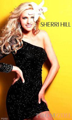Short One Long Sleeve Dress, Sherri Hill Sequin Dress- PromGirl