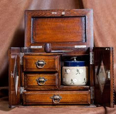pipe smoking cabinet