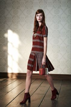 Tory Burch Pre-Fall 2015 - Collection - Gallery - Style.com  space dye stripe w/ solid