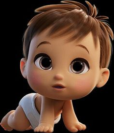 Trendy Ideas For Baby Face Illustration Children Baby Cartoon Characters, Cute Characters, Cartoon Kids, Girl Cartoon, Cute Baby Cartoon, Face Illustration, Character Illustration, Illustration Children, Baby Clip Art