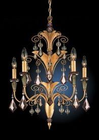 LightingShowroom.com: Tahitian Colored Crystal Chandelier, $1,318.00