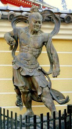 Kongōrikishi Deva King Ah-shaped 2-body set with name tag Statue of Nio