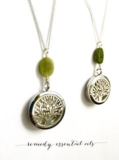 Stainless Steel Diffuser Necklace; Tree of Life Necklace; Wire Wrapped Jade; Aromatherapy Necklace; Essential Oil Diffuser; Jade; Tree by RemedyEssentialOils on Etsy https://www.etsy.com/ca/listing/260927572/stainless-steel-diffuser-necklace-tree