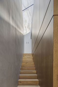 stairs by Nobbs Radford Architects. Contemporary redesign of a cottage in Birchgrove, a suburb of Sydney, Australia. Architecture Details, Interior Architecture, Interior Design, Hotel Corridor, Smooth Concrete, Stucco Walls, Outdoor Bathrooms, Interior Stairs, Stairs