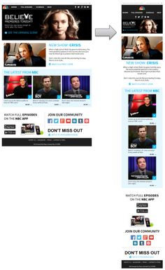 Great looking responsive email design from NBC