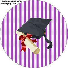Formatura - Kit Completo com molduras para convites, rótulos para guloseimas, lembrancinhas e imagens!