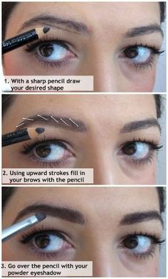 How to fill in your eyebrows - I like this technique. | Beauty Darling by chiechie2489