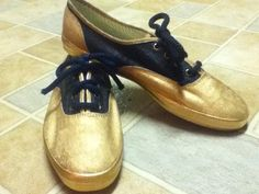 keds handpainted to look like saddle shoes. hawt.