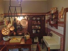 The Dollhouse: The Kitchen: Finished