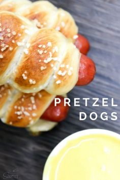 These Pretzel Dogs are simple! Easy, delicious and kid approved.