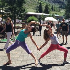 wellness + lifestyle lessons from the mountains   sasha + brook wearing hyde yoga at @wanderlustfest