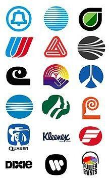 Saul Bass logos 1950s to 1990s