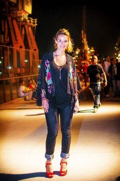 Look da Ana Luiza, que escolheu a Melissa Prism. #FashionRio