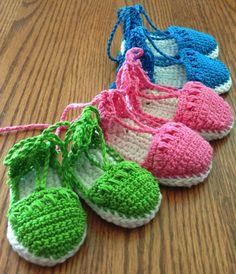 Summer Espadrilles Crochet Pattern