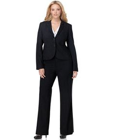 Calvin Klein Plus Size Suit Separates Collection - Wear to Work - Plus Sizes - Macy's Plus Size Suits, Plus Size Work, Trendy Plus Size, Plus Size Dresses, Interview Suits, Calvin Klein, Modern Suits, Plus Size Winter, Plus Size Outerwear