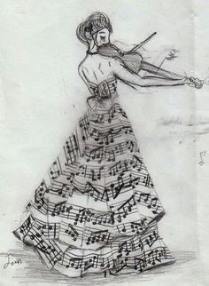 Girl & violin