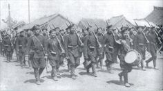 Russian troops march through southern Manchuria in the opening stages of the Russo-Japanese War.!903-1904