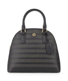 d3e568681c7a Tory Burch  Robinson Perforated Dome Satchel Bag