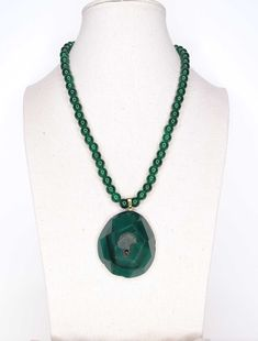 Jewelry, Fashion, Short Necklace, Natural Stones, Pendants, Crystals, Green, Moda, Jewlery