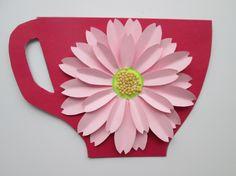 Открытка-чашечка с цветком (МК)  Фото