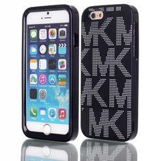 """NEW 2015 MICHAEL KORS MK BLACK FULL FITTED CASE FOR APPLE IPHONE 6 (4.7"""") #MichaelKors"""