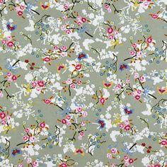 Cotton Yulin 3 - Tissus de coton avec des fleurs - Tissus en coton
