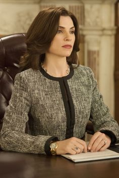 "Juliana Margulies, ""The Good Wife"" - the best prime time series on any of the networks right now"