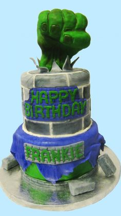 Incredible Hulk Cake for Icing Smiles!