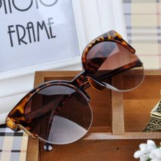 Leopard Cat-Eye Half Rimmed Sunglasses Brand new. Uv400 Accessories Sunglasses