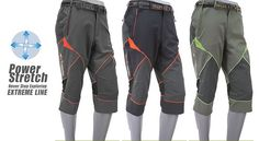 new Coolmax Mens cropped Hiking pants Trekking working 3/4 caving trousers