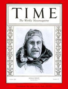 TIME Magazine Cover: Orville Wright - Dec. 3, 1928 - Aviation - Transportation