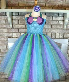 Teal Little Mermaid Tutu Mermaid Costume, Mermaid Toddler Tutu, Arial Mermaid Tutu, Baby Mermaid Tutu, Girl Mermaid Tutu, Ariel Mermaid tutu