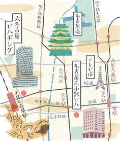 三菱地所プロパティマネジメント 冊子 イラストマップ 2015