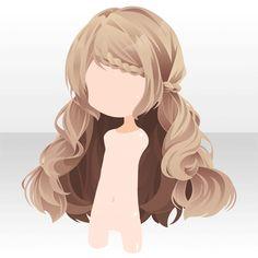 anime long brown hair อนิเมะไว้ผมยาวสีน้ำตาลถักเปียนิดหน่อยเหมือนเจ้าหญิงเลยค่ะ