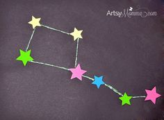 Constellation Craft - Big Dipper Sticker Art