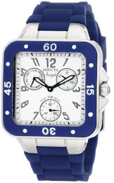 Invicta Womens 1289 Angel Collection MultiFunction Navy Rubber Watch * Check this awesome product by going to the link at the image.
