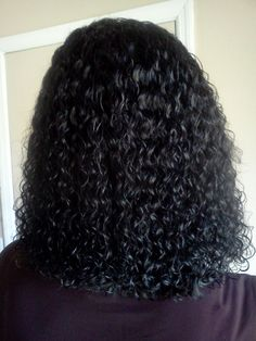 full wet wavy sew in with a seamless v closure
