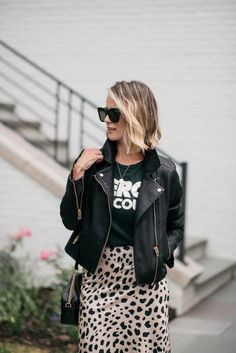 Summer To Fall | Leopard Slip Skirt | my kind of sweet | fall outfits | fall style 202 | fall street style | summer outfits | outfit ideas | outfit inspiration | summer style | midi skirt | workwear | mom style #fallstyle #falloutfits #outfitideas #outfitinspiration #summerstyle #summeroutfits #midiskirt #leopardskirt