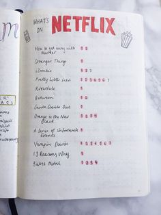 14 Bullet Journal Spreads - Netflix Spread