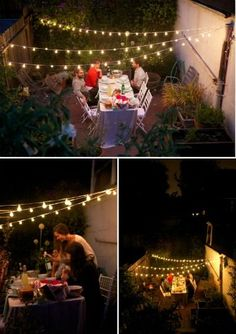 Even the smallest patio can soften with a Strand of Globe Lights. More Patio ideas on Frugal Coupon Living.