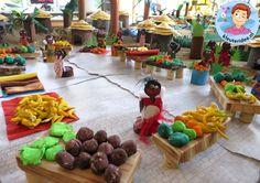 Afrikaanse markt knutselen met kleuters, kleuteridee, thema Afrika, kindergarten African market, Africa theme 2.