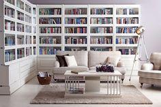 THE dream shelf from Boknäs Home Design Decor, House Design, Interior Design, Bookshelves, Bookcase, Living Room Tv Unit Designs, Home Libraries, Blue Walls, Home Decor Bedroom