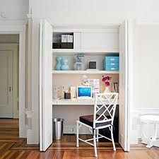 cute...office in a closet.