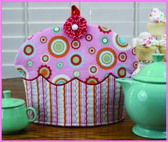 To make a perfect cup of tea you'll need a Cupcake Tea Cozy! Includes full-sized pattern pieces and step-by-step instructions to make this fun and functional over-sized Cupcake Tea Cozy. Big enough for fancy, regular and Brown Betty teapots too!
