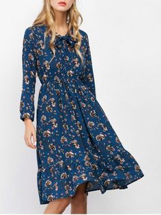 GET $50 NOW | Join RoseGal: Get YOUR $50 NOW!http://www.rosegal.com/print-dresses/bow-tie-tiny-floral-dress-1037877.html?seid=8421710rg1037877