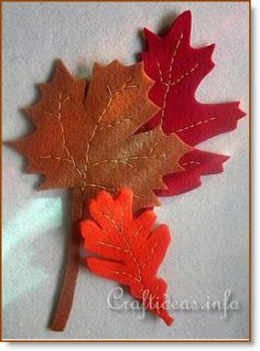 Felt Autumn Leaves @ Craft Gossip