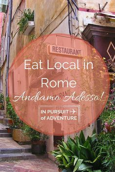 Want to visit the Eternal City but overwhelmed? Check out our Eat Local in Rome Guide where we give you our favorite restaurants, bars, tips and sites that we picked up over 4 years of living in Rome! #Rome #Italy #IPoA